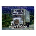 Tarjeta de cumpleaños grande del Camión-amante del