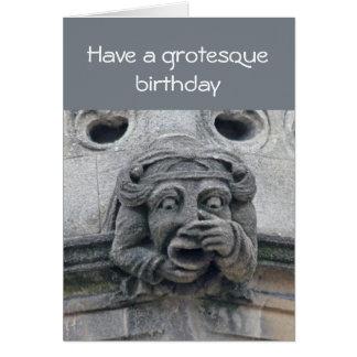 Tarjeta de cumpleaños grotesca
