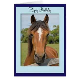 Tarjeta de cumpleaños hermosa de la foto del cabal