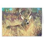 Tarjeta de cumpleaños hermosa de los ciervos
