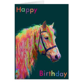 Tarjeta de cumpleaños hermosa del potro del arco