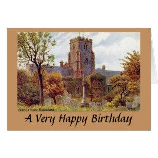 Tarjeta de cumpleaños - iglesia parroquial, Folkes