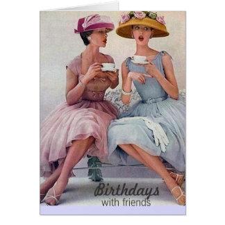 Tarjeta de cumpleaños inestimable del vintage tarjeta pequeña