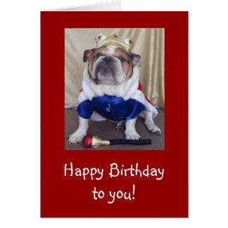 Tarjeta de cumpleaños inglesa del dogo, derechos