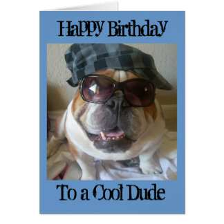 Tarjeta de cumpleaños inglesa del dogo, tipo fresc