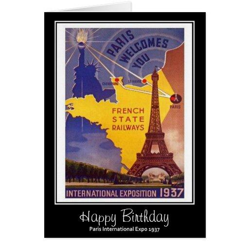 Tarjeta de cumpleaños internacional de la expo 193