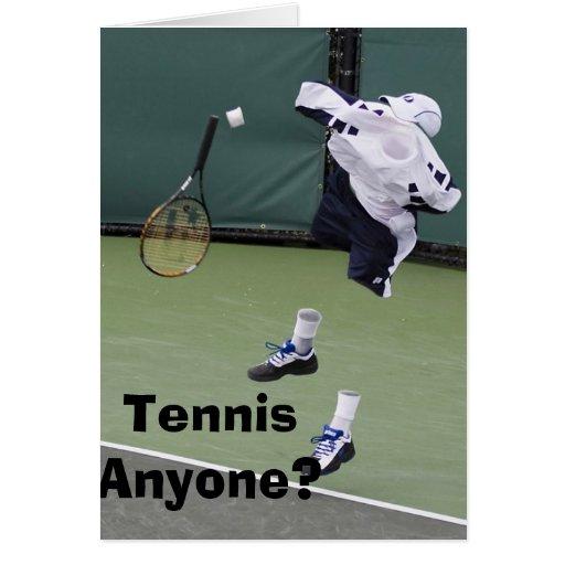 Tarjeta de cumpleaños invisible del tenis