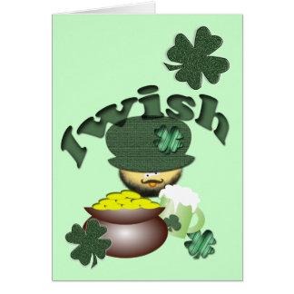 Tarjeta de cumpleaños irlandesa
