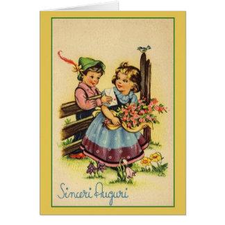 Tarjeta de cumpleaños italiana de Sinceri Auguri