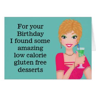 Tarjeta de cumpleaños libre del gluten divertido
