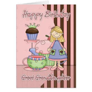 Tarjeta de cumpleaños linda de la bisnieta - magda