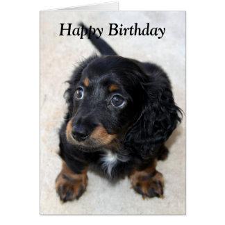 Tarjeta de cumpleaños linda de la foto del perro d