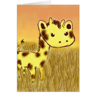 Tarjeta de cumpleaños linda de la jirafa