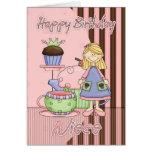 Tarjeta de cumpleaños linda de la sobrina - magdal