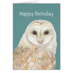 Tarjeta de cumpleaños linda del búho que insulta