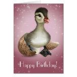 Tarjeta de cumpleaños linda del pato