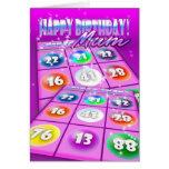 Tarjeta de cumpleaños loca del bingo de la momia