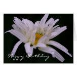 Tarjeta de cumpleaños macra de la fotografía de la