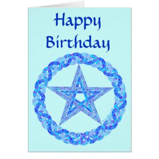 Tarjeta de cumpleaños mágica de las cosas de