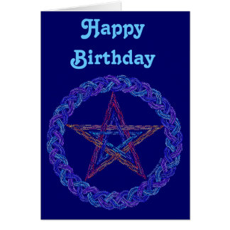 Tarjeta de cumpleaños mágica del arte de Wiccan