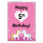 Tarjeta de cumpleaños mágica rosada adaptable del