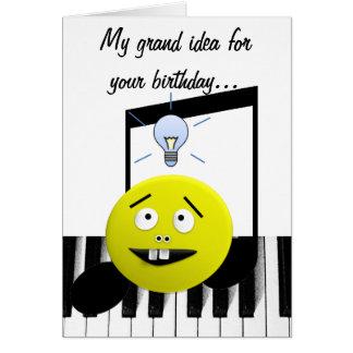 Tarjeta de cumpleaños magnífica de la idea
