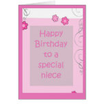 Tarjeta de cumpleaños - margarita rosada de la sob