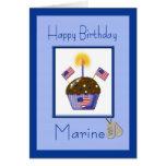 Tarjeta de cumpleaños marina militar