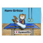 Tarjeta de cumpleaños masculina del gimnasta