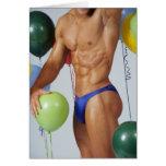Tarjeta de cumpleaños masculina del trozo