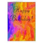 Tarjeta de cumpleaños mezclada de los colores
