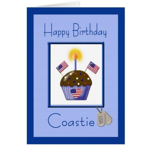 Tarjeta de cumpleaños militar de Coastie