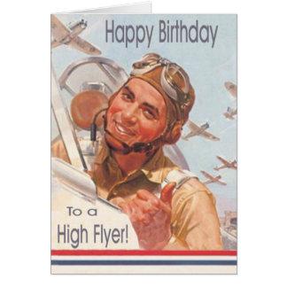 Tarjeta de cumpleaños militar de la fuerza aérea