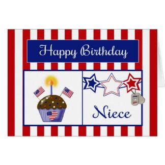 Tarjeta de cumpleaños militar de la sobrina