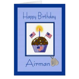 Tarjeta de cumpleaños militar del aviador