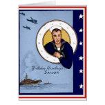 Tarjeta de cumpleaños militar del marinero de la m