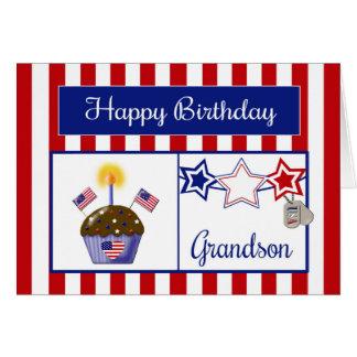Tarjeta de cumpleaños militar del nieto