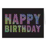 Tarjeta de cumpleaños - modelo del fractal de la m