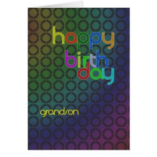 Tarjeta de cumpleaños moderna para el nieto