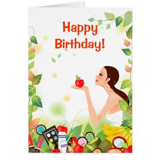 Tarjeta de cumpleaños natural de la belleza