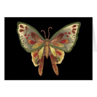 Tarjeta de cumpleaños negra de la mariposa