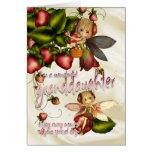 Tarjeta de cumpleaños - nieta - empanada de Moonie