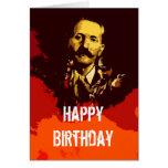 Tarjeta de cumpleaños occidental de espaguetis