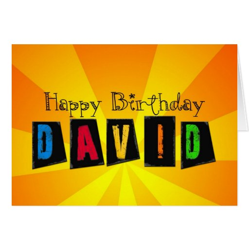 Tarjeta de cumpleaños para David