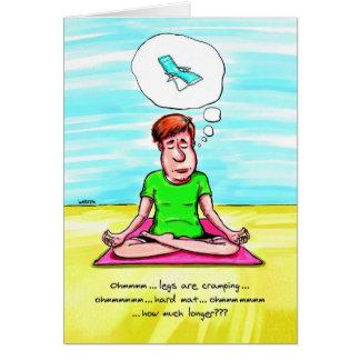 Tarjeta de cumpleaños para el amante de la yoga -
