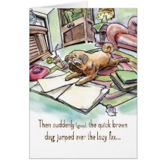 Tarjeta de cumpleaños para el amante del perro - b