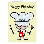 Tarjeta de cumpleaños para el cocinero o el