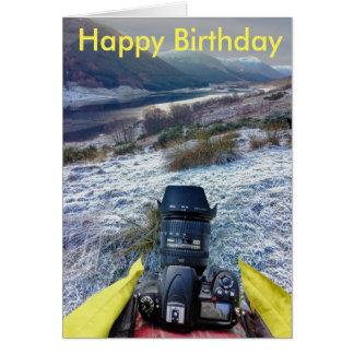 Tarjeta de cumpleaños para el fotógrafo del