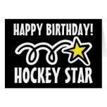 Tarjeta de cumpleaños para el jugador de hockey