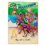 Tarjeta de cumpleaños para el Marathoner - corredo